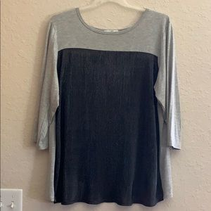 Moa Moa color block grey/pewter top